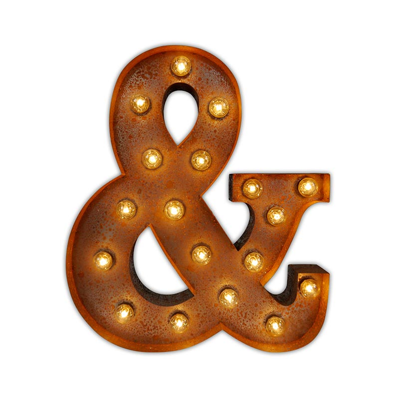 Vintage Letter Lights Vintage Letter Light Ampersand by Vintage Letter Lights