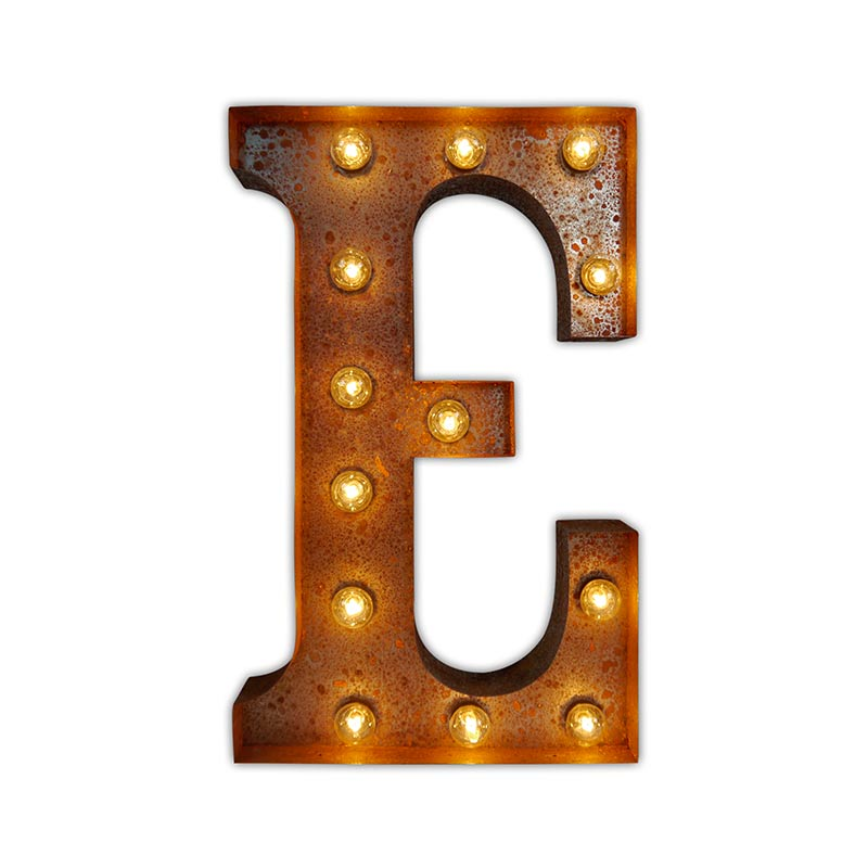 Vintage Letter Lights Vintage Letter Light E by Vintage Letter Lights