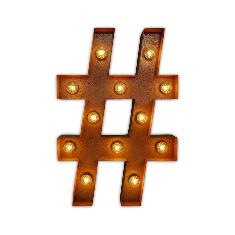 Vintage Letter Lights Vintage Letter Light Hashtag by Vintage Letter Lights