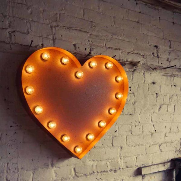 Vintage Letter Light Heart