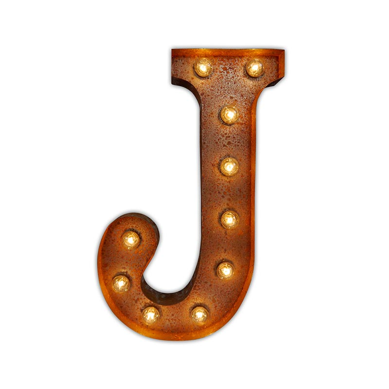Vintage Letter Lights Vintage Letter Light J by Vintage Letter Lights