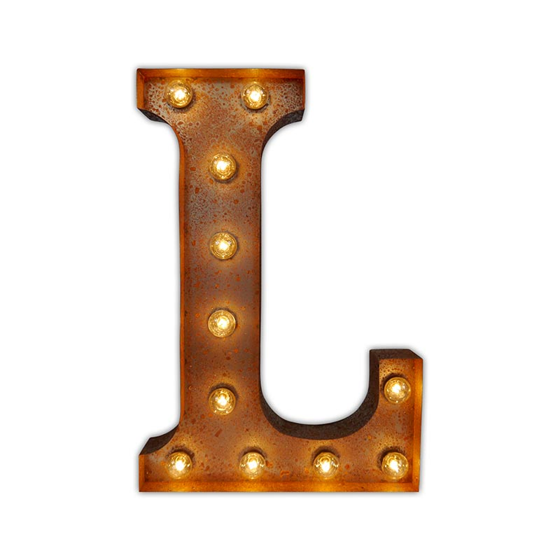 Vintage Letter Lights Vintage Letter Light L by Vintage Letter Lights