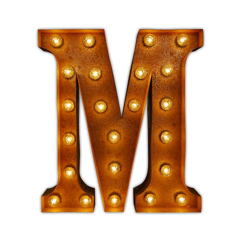 Vintage Letter Lights Vintage Letter Light M by Vintage Letter Lights