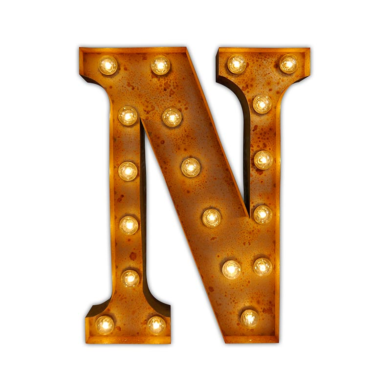 Vintage Letter Lights Vintage Letter Light N by Vintage Letter Lights