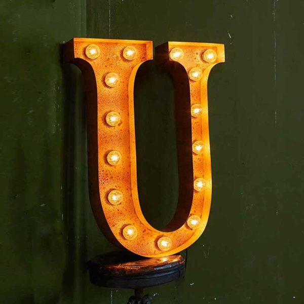 Vintage Letter Light U