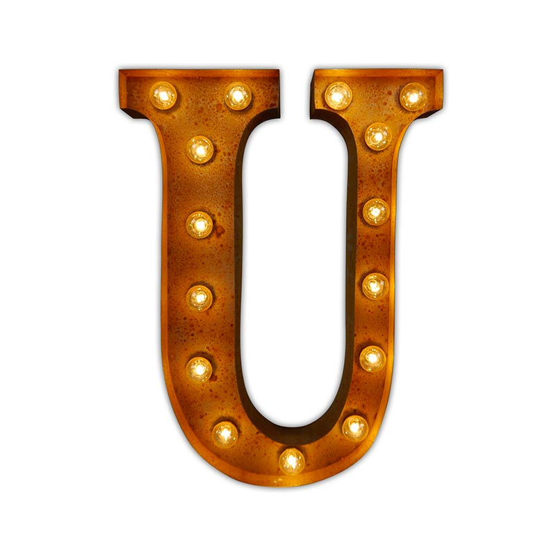 Vintage Letter Lights Vintage Letter Light U by Vintage Letter Lights