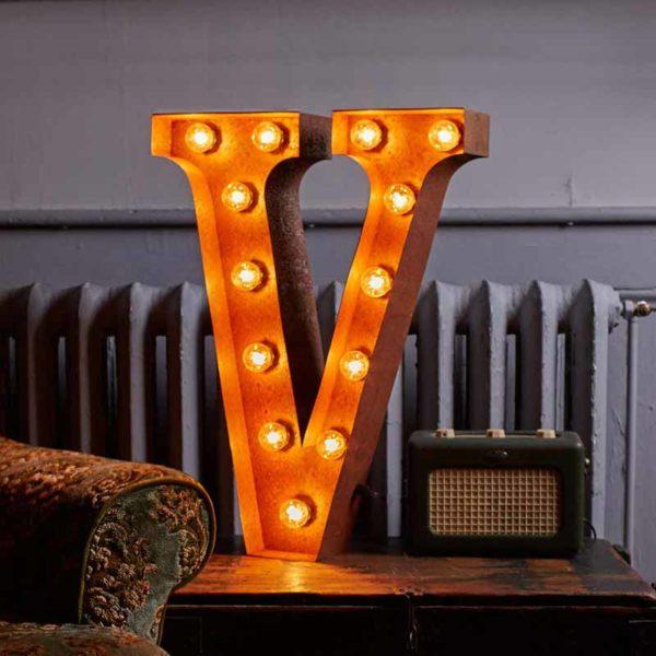Vintage Letter Light V