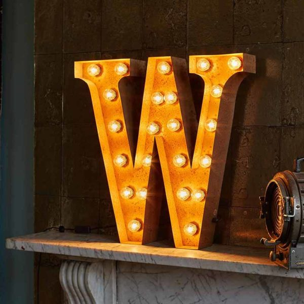 Vintage Letter Light W