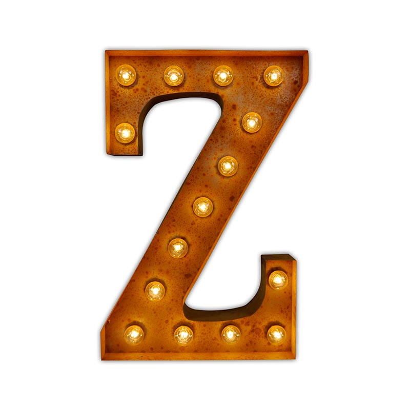 Vintage Letter Lights Vintage Letter Light Z by Vintage Letter Lights