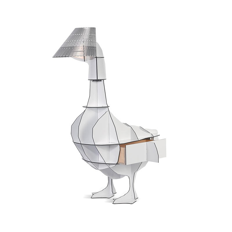 ibride Junon Illuminated Goose Bedside Table by Rachel & Benoit Convers
