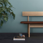 Fredericia 3171 Bench in 95 Walnut aniline leather by Borge Mogensen (3)
