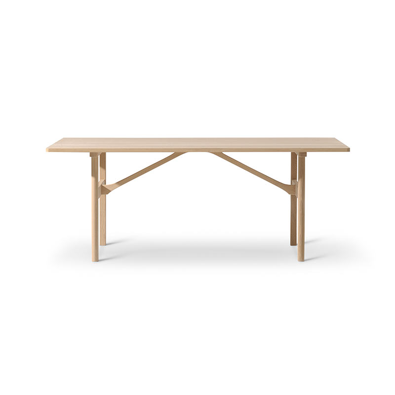 Fredericia 6284 180x90cm Dining Table by Borge Mogensen Olson and Baker - Designer & Contemporary Sofas, Furniture - Olson and Baker showcases original designs from authentic, designer brands. Buy contemporary furniture, lighting, storage, sofas & chairs at Olson + Baker.