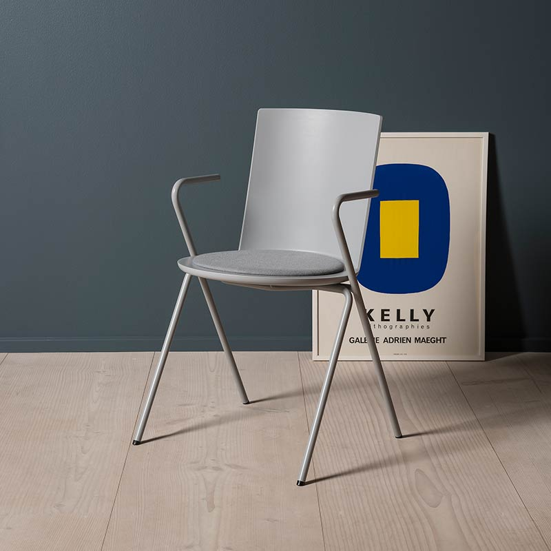 Fredericia Acme Chair A-Base Armchair in Stone by Geckeler Michels (2)