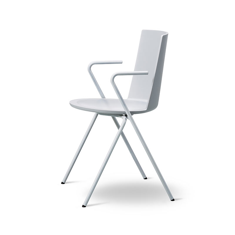 Fredericia Acme Chair A-Base Armchair in Stone by Geckeler Michels