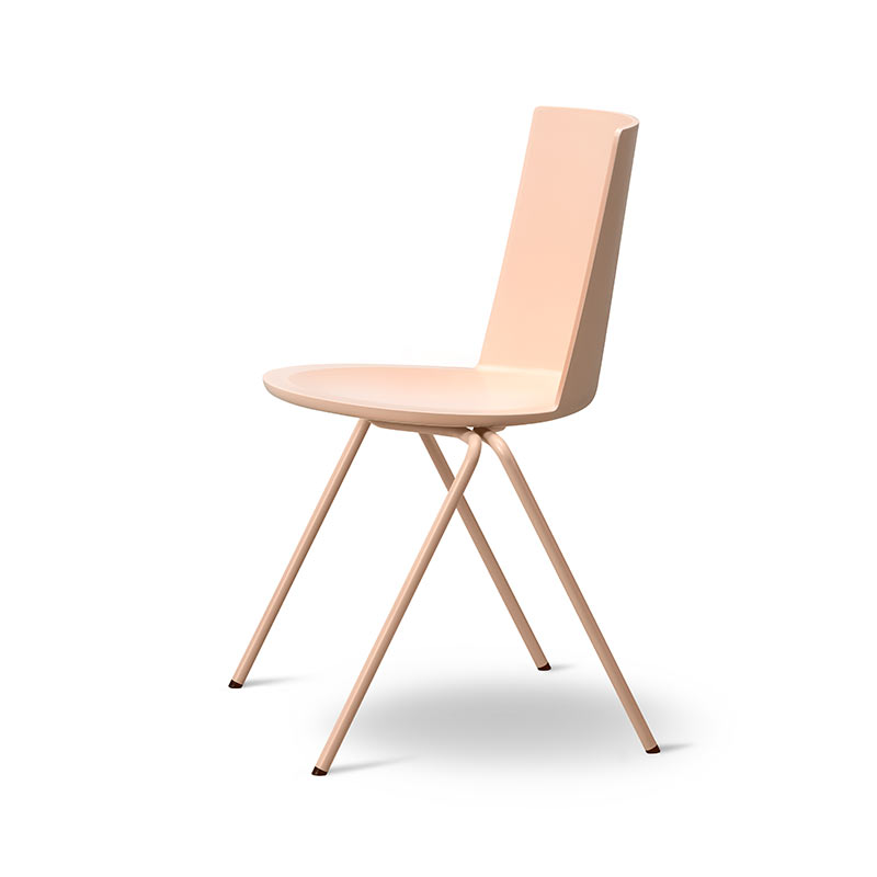 Fredericia Acme Chair A-Base in Powder Nude by Geckeler Michels (2)