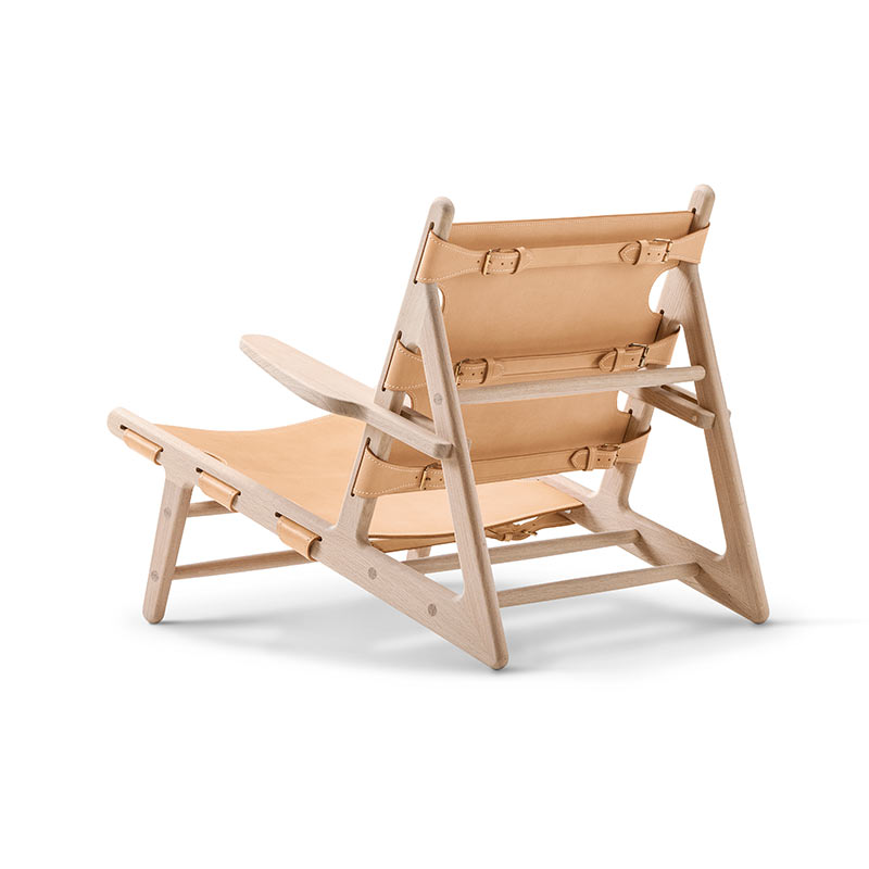 Fredericia Hunting Lounge Chair in Natural saddle leather by Borge Mogensen (2)