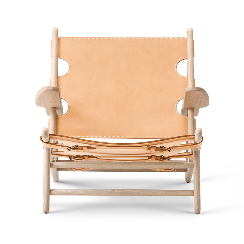 Fredericia Hunting Lounge Chair in Natural saddle leather by Borge Mogensen (3)