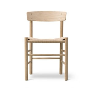 Fredericia J39 Chair in Soaped oak by Borge Mogensen
