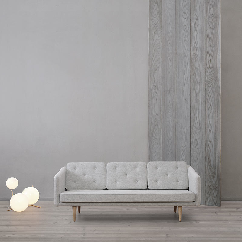 Fredericia No.1 Three Seat Sofa in 130 Hallingdal 65 by Borge Mogensen (2)