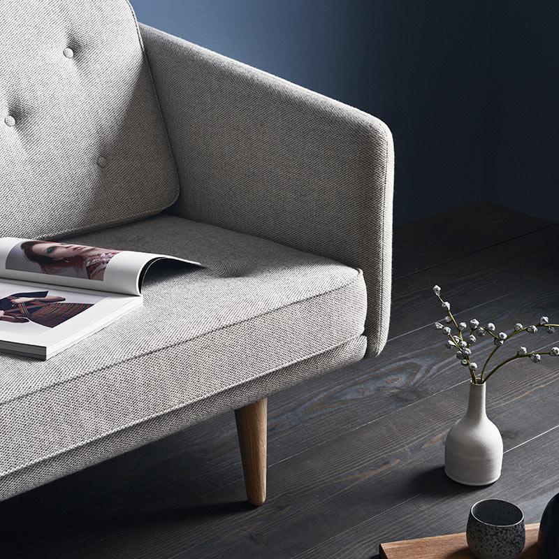 Fredericia No.1 Three Seat Sofa in 130 Hallingdal 65 by Borge Mogensen (3)
