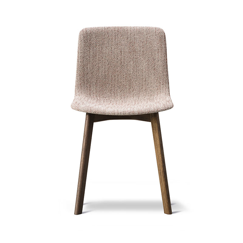 Fredericia Pato Fully Upholstered Chair with Wood Base by Gudmundur Ludvik, Hee Welling