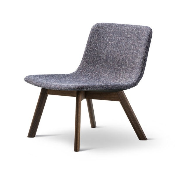 Pato Fully Upholstered Lounge Chair with Wood Base