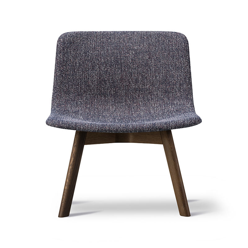 Fredericia Pato Fully Upholstered Lounge Chair with Wood Base by Gudmundur Ludvik, Hee Welling