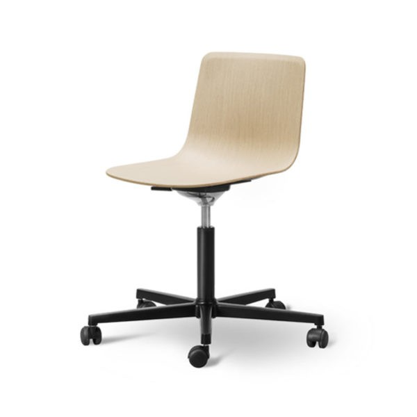 Pato Veneer Office Chair with Swivel Base on Castors