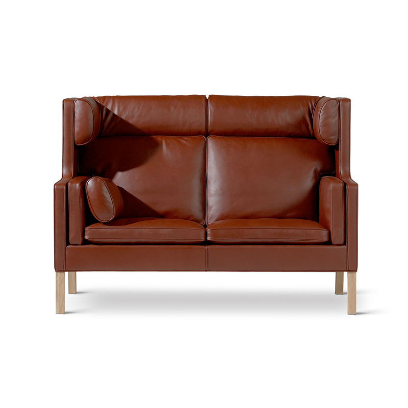 Fredericia Select 2192 Coupe Two Seat Sofa by Borge Mogensen