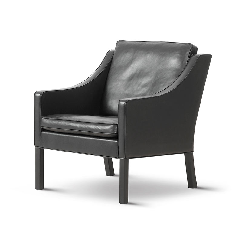 Fredericia Select 2207 Armchair in 88 Black semi aniline leather by Borge Mogensen (2)