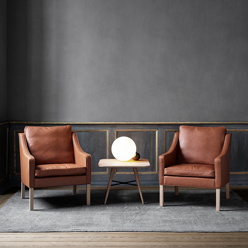 Fredericia Select 2207 Armchair in 88 Black semi aniline leather by Borge Mogensen (4)