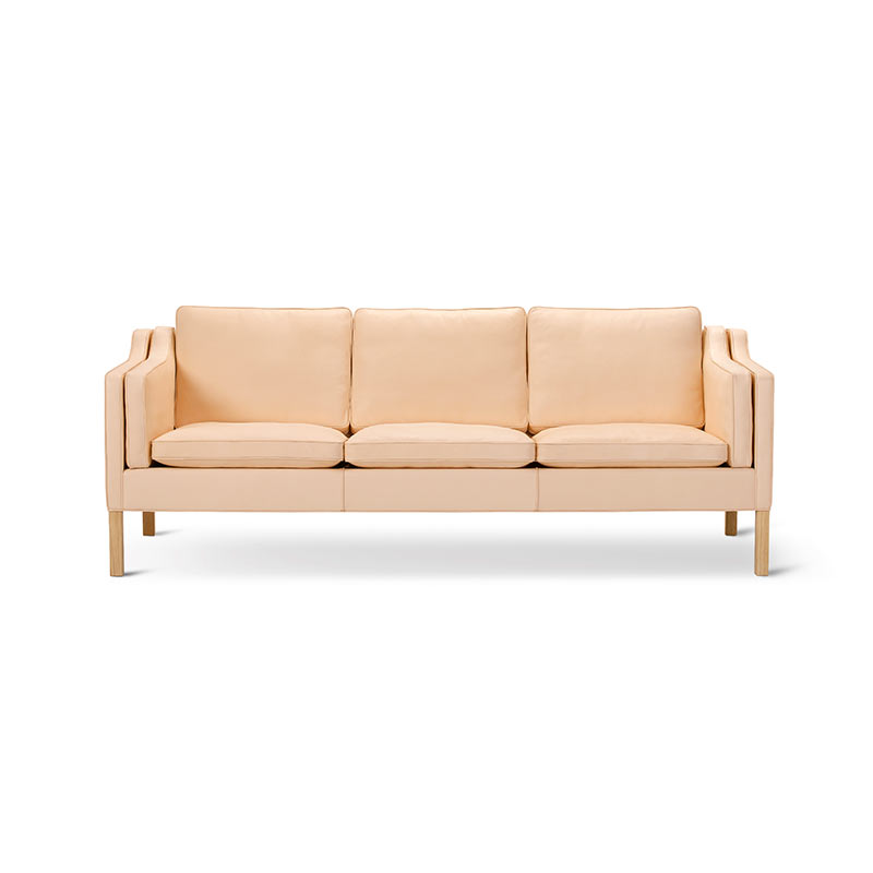 Fredericia Select 2213 Three Seat Sofa by Borge Mogensen Olson and Baker - Designer & Contemporary Sofas, Furniture - Olson and Baker showcases original designs from authentic, designer brands. Buy contemporary furniture, lighting, storage, sofas & chairs at Olson + Baker.