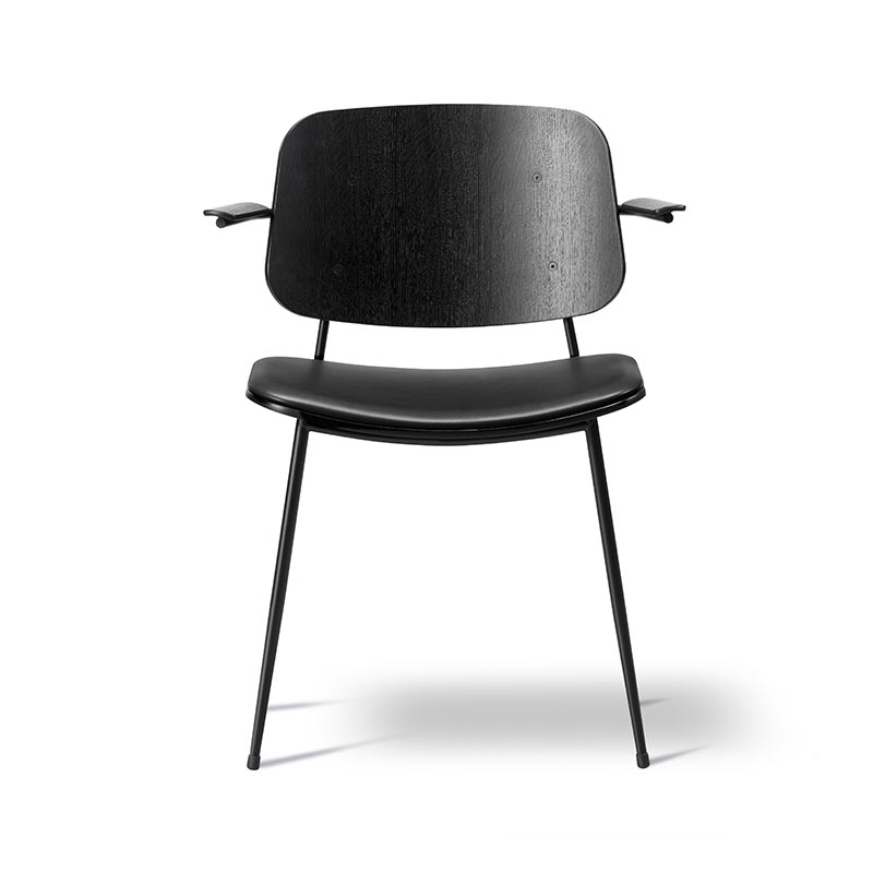 Fredericia Soborg Chair Armchair with Upholstered Seat by Borge Mogensen