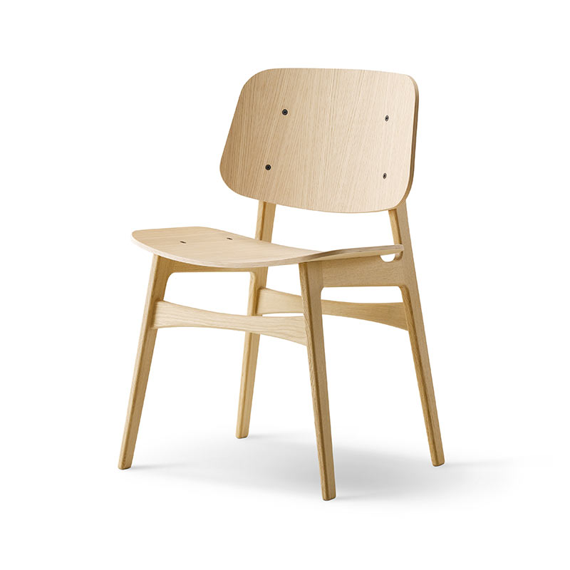 Fredericia Soborg Chair with Wooden Base by Borge Mogensen