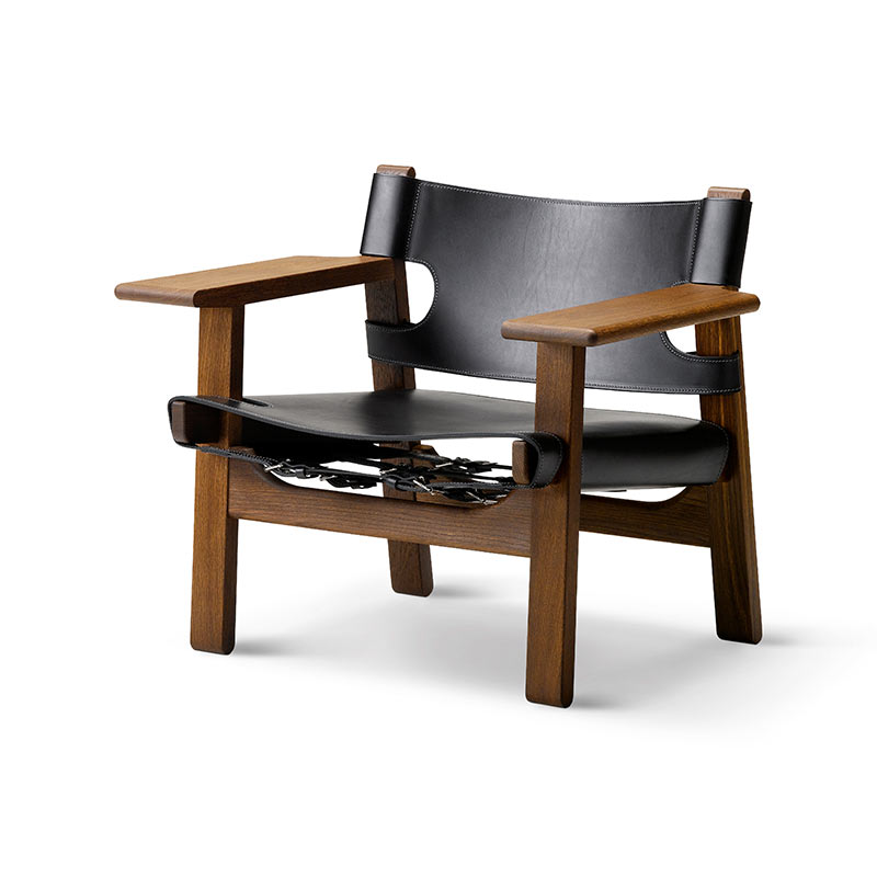 Fredericia Spanish Lounge Chair by Borge Mogensen Olson and Baker - Designer & Contemporary Sofas, Furniture - Olson and Baker showcases original designs from authentic, designer brands. Buy contemporary furniture, lighting, storage, sofas & chairs at Olson + Baker.