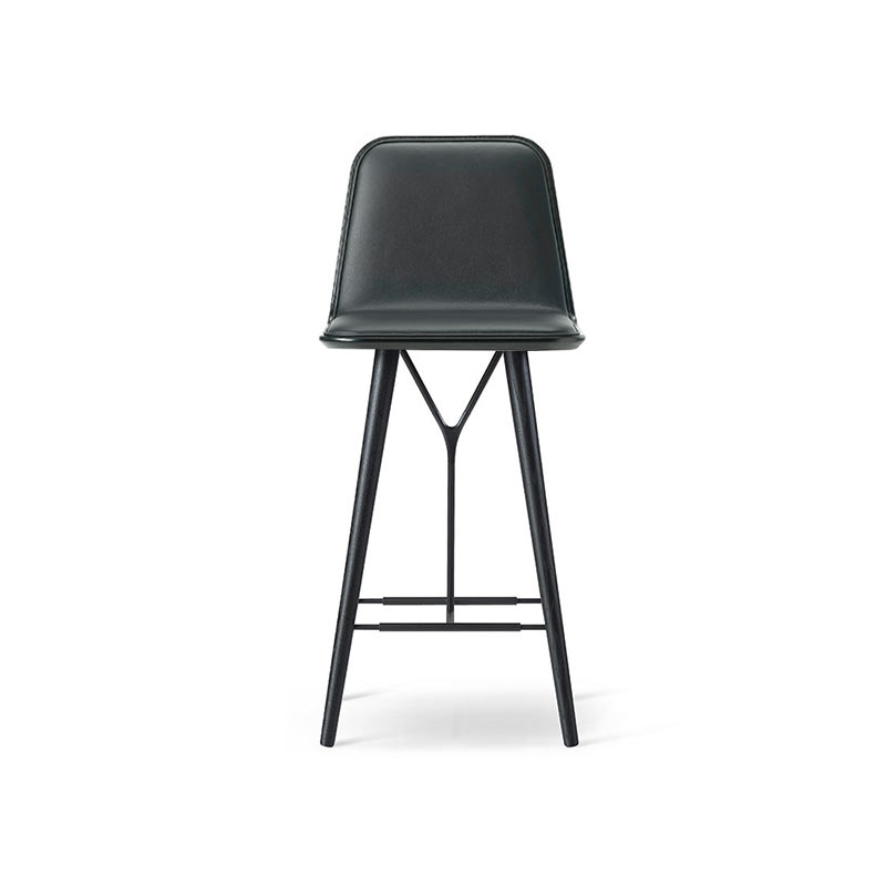 Fredericia Spine Low Bar Stool by Space Copenhagen