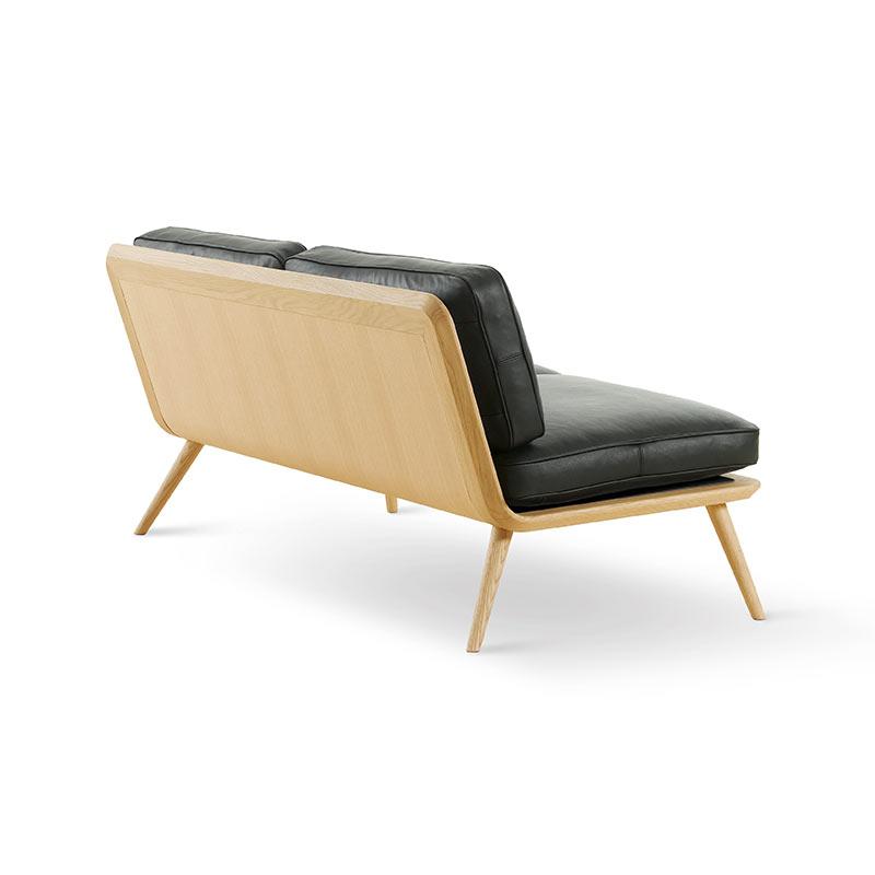 Fredericia Spine Two Seat Sofa in 88 Black semi aniline leather by Space Copenhagen (3)