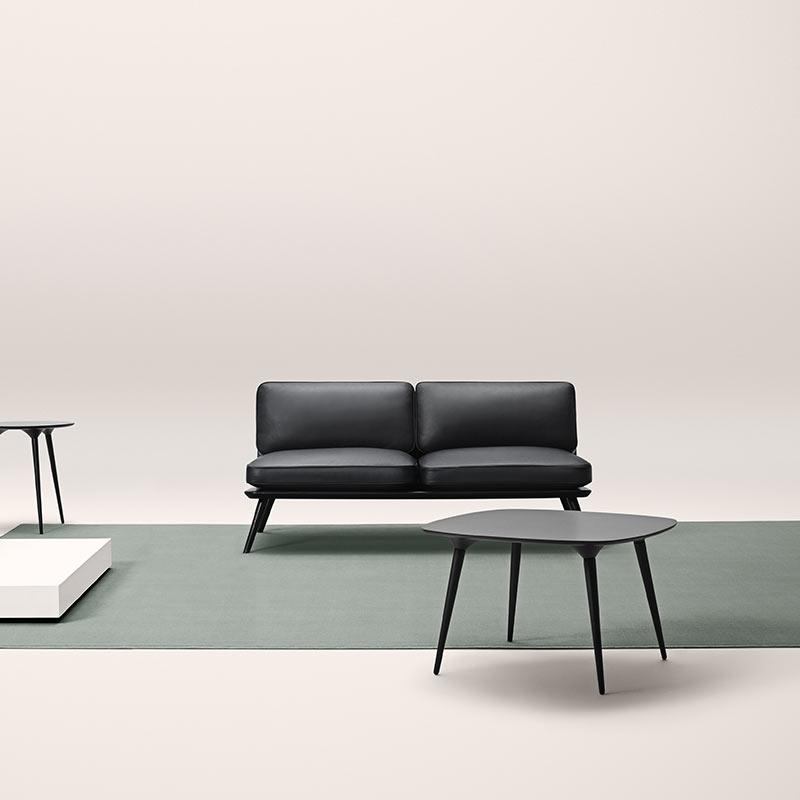 Fredericia Spine Two Seat Sofa in 88 Black semi aniline leather by Space Copenhagen (4)