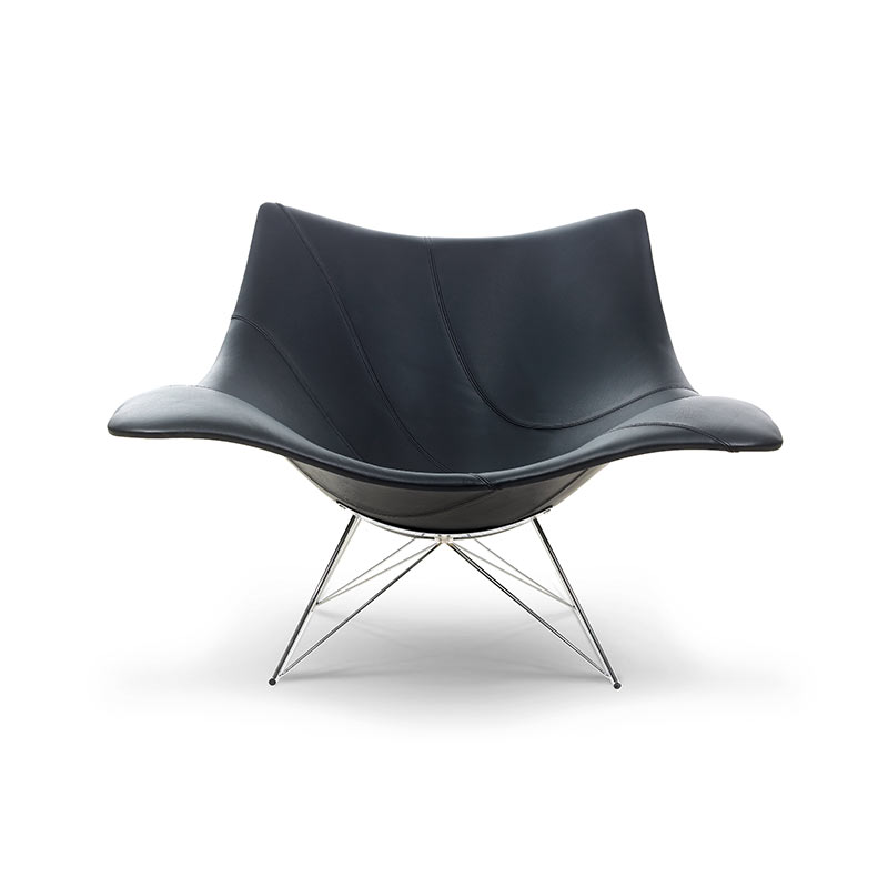 Fredericia Stingray Fully Upholstered Rocking Chair by Thomas Pedersen