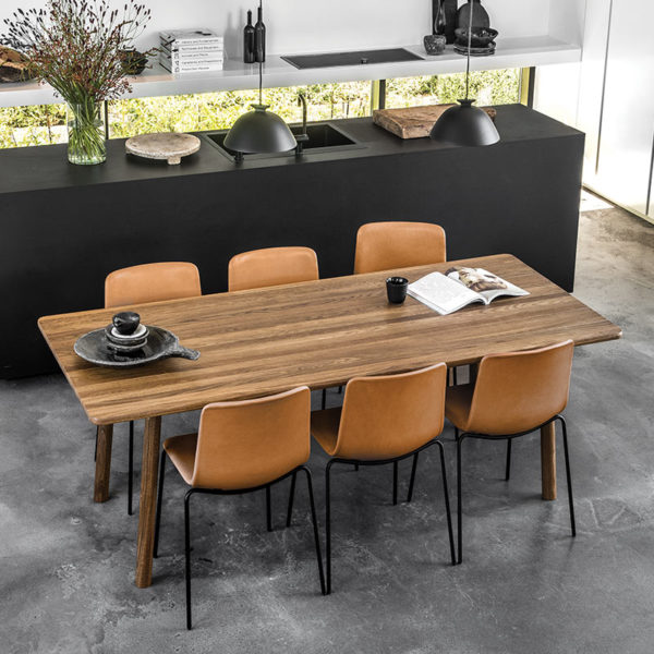 Taro 220x93.5cm Dining Table with Milled Grooves