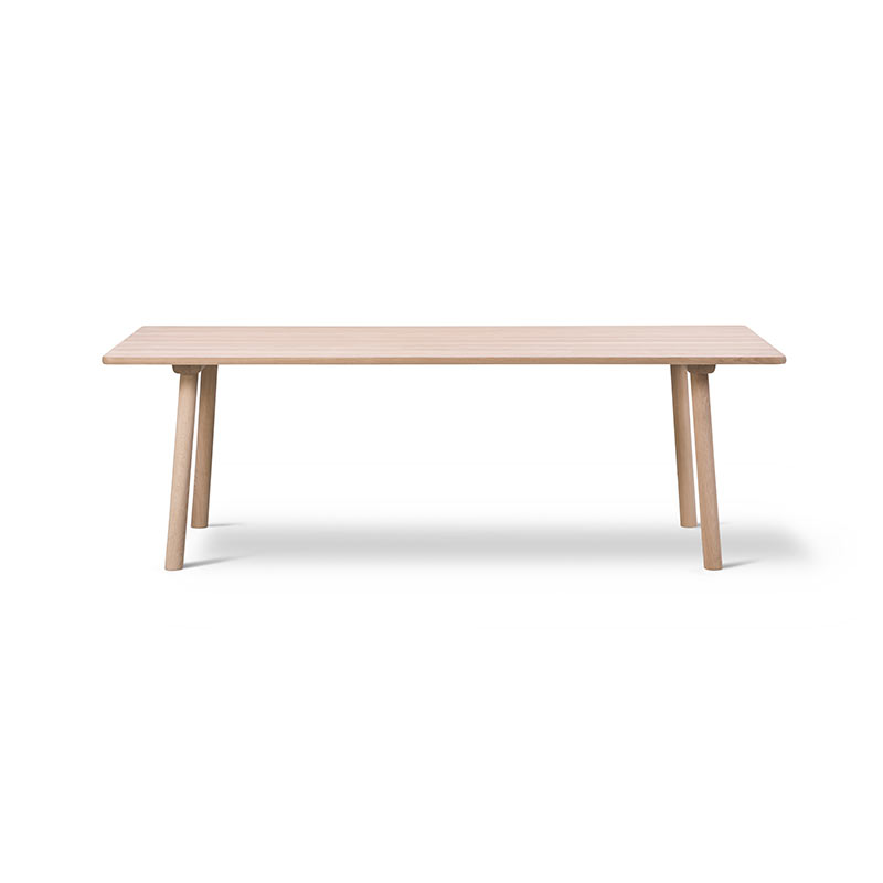 Fredericia Taro 220x93.5cm Dining Table with Milled Grooves by Jasper Morrison Olson and Baker - Designer & Contemporary Sofas, Furniture - Olson and Baker showcases original designs from authentic, designer brands. Buy contemporary furniture, lighting, storage, sofas & chairs at Olson + Baker.