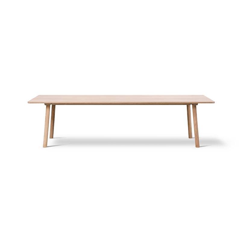 Fredericia Taro 280x93.5cm Dining Table with Milled Grooves by Jasper Morrison