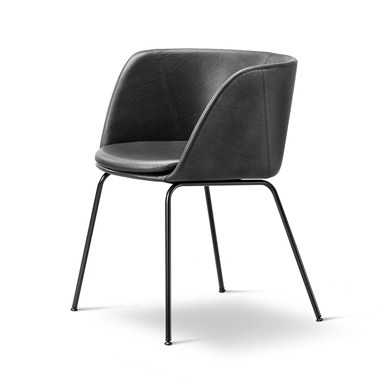 Fredericia Verve Fully Upholstered Chair by Geckeler Michels
