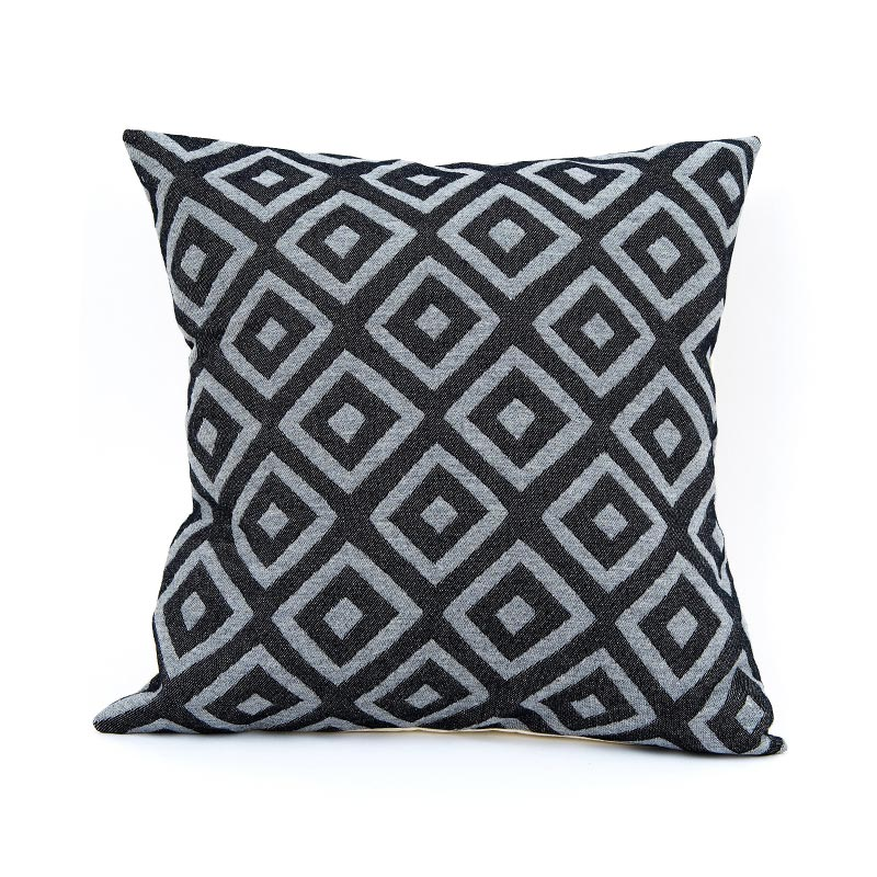 Tori Murphy Broadway Cushion Charcoal on Black by Tori Murphy