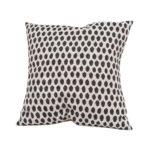 Tori Murphy Elca Cushion Black on Linen by Tori Murphy