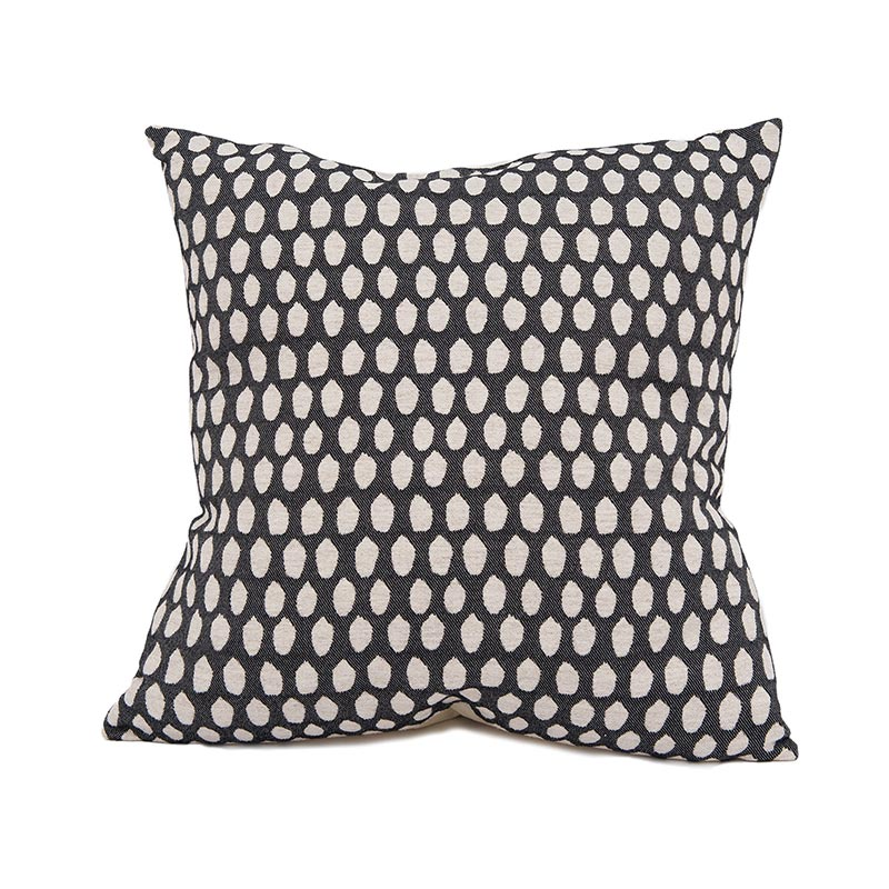 Tori Murphy Elca Cushion Linen on Black by Tori Murphy