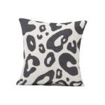Tori Murphy Hamilton Large Spot Cushion Black on Linen by Tori Murphy