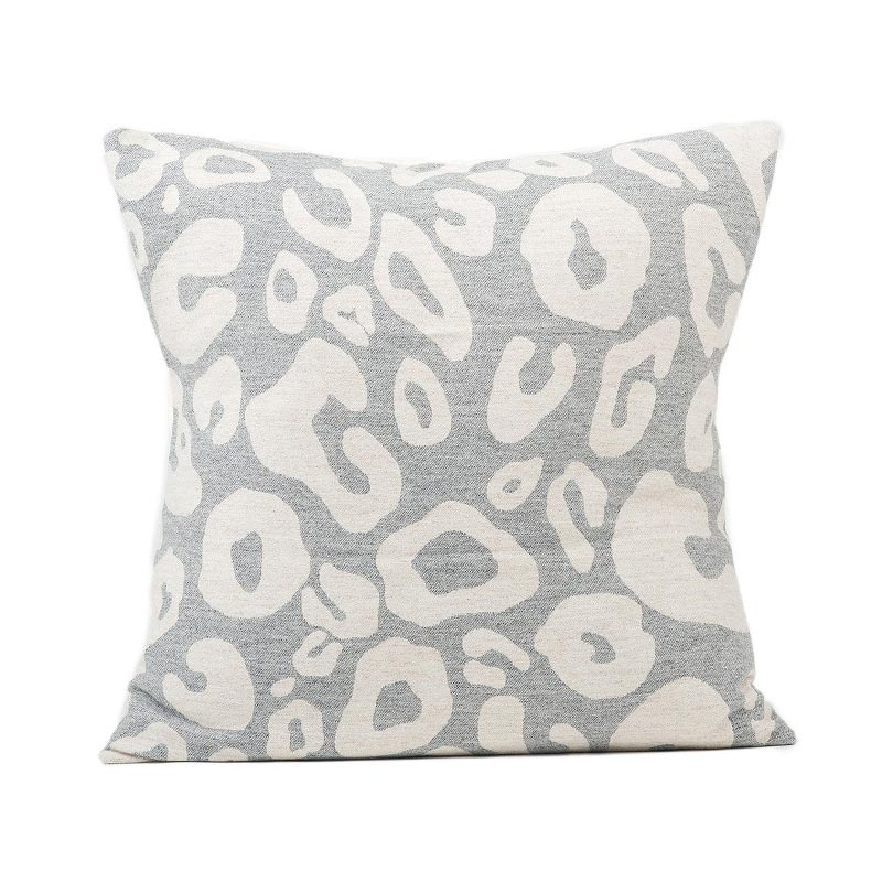 Tori Murphy Hamilton Large Spot Cushion Linen on Grey by Tori Murphy