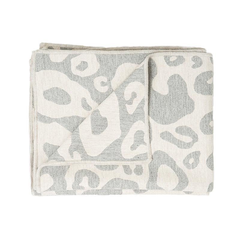 Tori Murphy Hamilton Large Spot Throw Linen And Grey by Tori Murphy