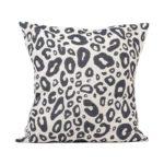 Tori Murphy Hamilton Small Spot Cushion Black on Linen by Tori Murphy